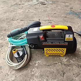 Máy phun xịt rửa xe mini gia đình SAKURA omais T2 Chính Hãng - Lực nước cực mạnh công nghệ JAPAN