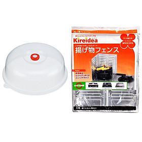 Combo nắp đậy dùng cho lò vi sóng và Tấm chắn dầu mỡ bếp ga nội địa Nhật Bản