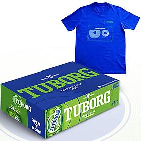 Thùng 24 Lon Bia Tuborg (24 Lon  X 330Ml) + 1 Áo Phông