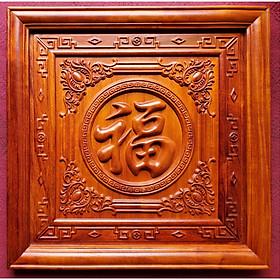 TRANH GỖ HƯƠNG  ĐỤC NỔI - CHỮ PHÚC ( Chữ Phúc - Hán )