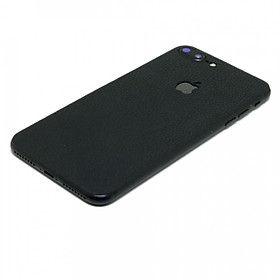 Hình đại diện sản phẩm Ốp da dán iPhone 8 plus - Da thật nhập khẩu cao cấp - Chính hãng (Đen vân)