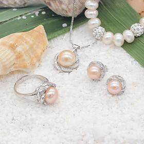 Bộ Trang Sức Ngọc Trai T-4 Ánh Cam Bảo Ngọc Jewelry  (Freesize)