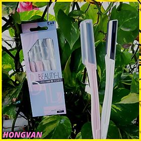 Set 4 dao cạo lông mày lông mặt cho nữ cao cấp + Tặng 2 zipper