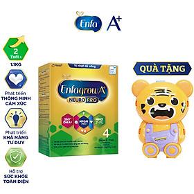 Bộ 1 hộp Sữa bột Enfagrow A+ Neuropro 4 Vị thanh mát với dưỡng chất DHA & MFGM cho trẻ từ 2-6 tuổi– 1.1kg – Tặng 1 đồ chơi làm bánh Hamburger (Màu ngẫu nhiên)