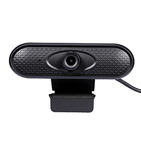 HD 1080P Web Camera Manual Focus USB Webcam Computer Camera Built-in Microphone Drive-free Camera for PC Laptop Black
