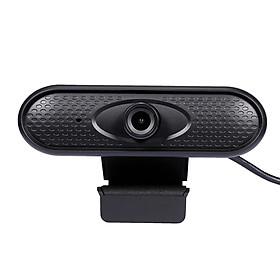 Webcam HD 1080P Không Driver Lấy Nét Tự Động Tích Hợp Micro & Cổng USB Cho Laptop / PC - Đen