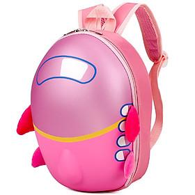 Balo 3d in hình máy bay cho bé học mầm non dễ thương cho bé gái dưới 4 tuổi chất liệu nhựa PVC an toàn cho bé kích thước 32*22cm