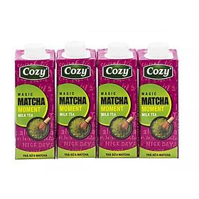 Lốc 4 hộp Trà sữa Cozy Moment hương Matcha