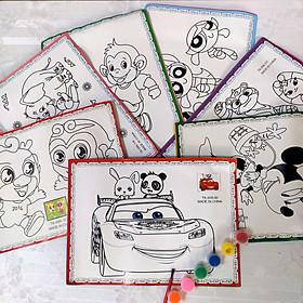 COMBO 10 tranh tô màu nước cho bé