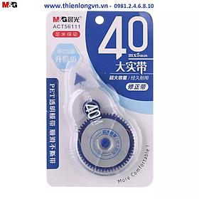 Xóa băng - Xóa kéo 40m M&G - ACT56111 màu xanh