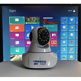 Camera IP Wifi 3 râu dùng app Yoosee 720P có cổng LAN , khe thẻ nhớ trên đầu camera - hàng nhập khẩu
