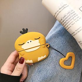 Bao Case Silicon Cho Tai Nghe Apple Airpods pro - Hình vịt vàng dễ thương - Hàng Chính hãng