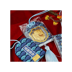 Lì xì mèo thần tài bao xanh - 24k Huy Thanh Jewelry