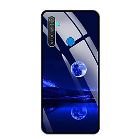 Ốp lưng kính cường lực cho điện thoại Realme 5 - 0269 MOON02 - Hàng Chính Hãng