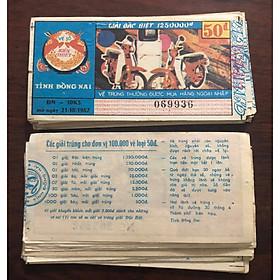 Vé số bao cấp tỉnh Đồng Nai, 198x, vật phẩm sưu tầm