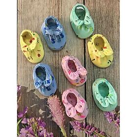 2 Giày vải nơ 2 lớp cao cấp  cho trẻ từ 3 tháng đến 8 tháng tuổi