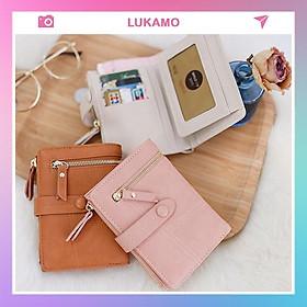 Ví nữ gấp 3 ngắn cầm tay mini cute dễ thương nhỏ gọn bỏ túi thời trang giá rẻ LUKAMO VD175