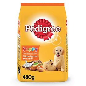 Đồ Ăn Cho Chó Con Pedigree Vị Gà, Trứng Và Sữa Dạng Túi 480g