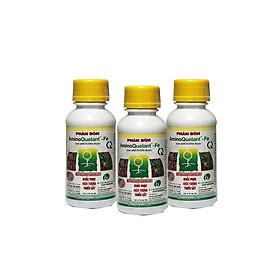 Combo 3 chai phân bón Amino-Fe (100ml/chai) - bổ sung sắt cho cây, tạo màu cho hoa lan, kiểng, bonsai, cây ăn trái