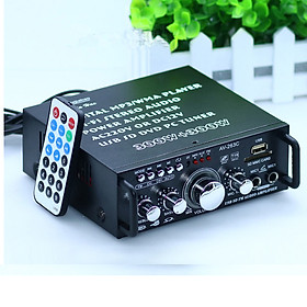 Amply mini bluetooth 12v 220v AV-153TV, USB,SD,FM