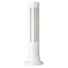 2.5W USB Vertical Bladeless No Leaf Fan Mini Air Conditioner Desk Cooling Tower Fan