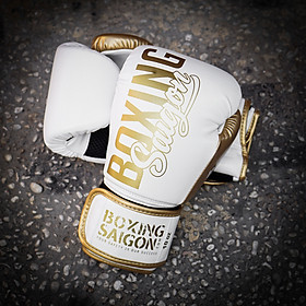 Găng tay Boxing Saigon Inspire - White/Gold