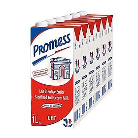 Thùng 6 Hộp Sữa Tươi Nguyên Kem Promess (1L /Hộp)