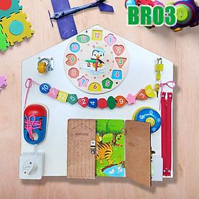 Bảng Busy Board Đa Năng Mô Hình Bận Rộn Đồ Chơi Gỗ Thông Minh Dành Cho Bé 1 Đến 3 Tuổi Theo Phương Pháp Giáo Dục Sớm Mẫu BR03