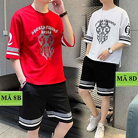 < FREESHIP > Bộ set thể thao nam nữ vải thun lạnh mềm mịn 3 màu đen, trắng đỏ