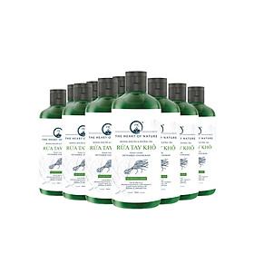 Combo 10 Nước rửa tay khô tinh dầu Sả Chanh PK 100ML - kết hợp tinh dầu tràm trà, diệt khuẩn 99,9%