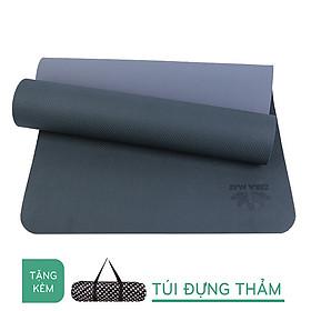 Hình đại diện sản phẩm Thảm Tập Yoga TPE ZERA 8mm 2 Lớp Màu Đen Tặng Kèm túi