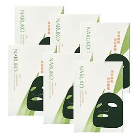 Combo 5 HỘP TẶNG 1 HỘP mặt nạ NARUKO tràm trà trị mụn thần kỳ Phiên bản Đài Loan (8 miếng/ hộp)