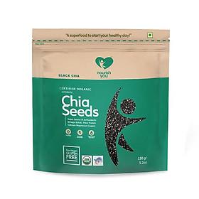Hạt Chia đen hữu cơ Organic Black Chia Seeds Nourish You Gói 500g