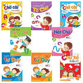 Combo 8 cuốn: Bé học IQ (5-6 tuổi)