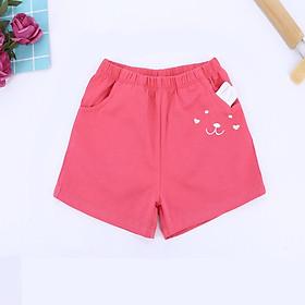 Quần bé gái quần sooc đùi cotton họa tiết thỏ cực xinh 1-6T (10-22kg)