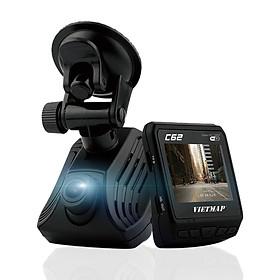 Camera Hành Trình Ô tô VietMap C62 - Thiết Bị Ghi Hình Trước Sau Tích Hợp Cảnh Báo Giao Thông Bằng Giọng Nói + Wifi + Thẻ Nhớ 16GB - Hàng Chính Hãng