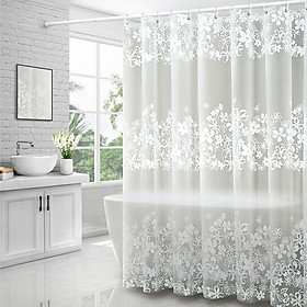 Rèm Phòng tắm PEVA không thấm nước 1.8m hoa trắng