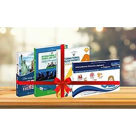Combo Bộ sách Cẩm nang  học tiếng Anh & Ngữ âm tiếng anh quốc tế  3 cấp độ Sơ cấp - Trung cấp -  Nâng cao