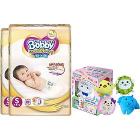 Combo 2 Gói Tã/Bỉm Quần Cao Cấp Bobby Extra Soft-Dry S70 - [Tặng Hộp Đồ Bông 5 Món Đặc Biệt Bobby Chan & 4 Người Bạn]