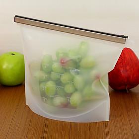 Túi zip silicon bảo quản thực phẩm tái sử dụng 20,5x18cm