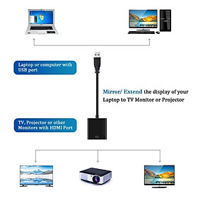 USB 3.0 to HDMI HD 1080P Video Cable Adapter with Audio Output for Windows XP / 10 / 8.1 / 8 / 7
