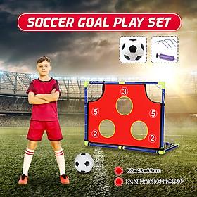 Kids Soccer Goal Target Play Set Backyard Outdoor Football Sport With Ball