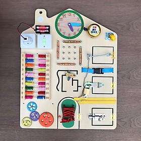 Bảng bận rộn-Busy board dành cho bé từ 1 đến 3 tuổi