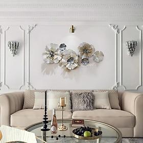 Phù điêu - tranh sắt treo tường hình hoa đẹp (117 * 56cm)
