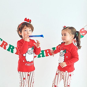 Jeonghan Ttasom Đồ ngủ trẻ em 100%cotton chủ đề Giáng sinh - hình ông già Noel - TT001