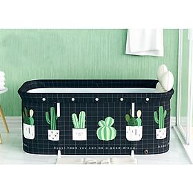 Bồn tắm gấp gọn loại to120cmx55cm nằm ngang cho người lớn và trẻ em tắm và ngâm thảo dược BP03