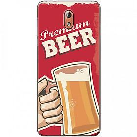 Ốp lưng dành cho Nokia 3.1 mẫu Ly bia nền đỏ