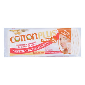 Bông Tẩy Trang Cotton Plus 2 Trong 1 Chiết Xuất Dầu Argan - Vitamin E (80 Miếng)