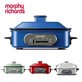 Nồi điện 3 trong 1 lẩu, hấp, nướng đa năng cao cấp Morphy Richards - Chất liệu: Nhôm hợp kim - Công suất 1400W  - Có 4 màu - Hàng Nhập Khẩu