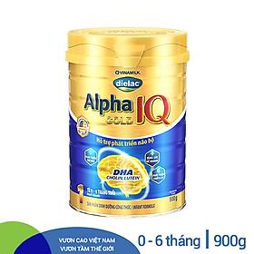 Sữa Bột Vinamilk Dielac Alpha Gold IQ Step 1 - Hộp Thiếc 900g